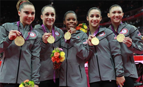 US Women's Gymnastics Gold Medal Team at the 2012 London Olympics